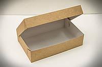 Коробка для эклеров, зефира, печенья и десертов 230*150*60 мм., крафт, фото 1