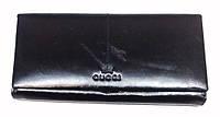 Кошелек Gucci GU-3465 черный женский из натуральной кожи с монетницей внутри