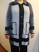 Удлиненная женская кофта без капюшона до 58 размера., фото 1