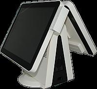 Сенсорный POS терминал (моноблок) SPARK-ТТ-2215 с вторым дисплеем и считывателем магнитных карт