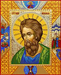 """Схема для вышивки бисером на атласе икона """"Святой Андрей Первозванний"""""""