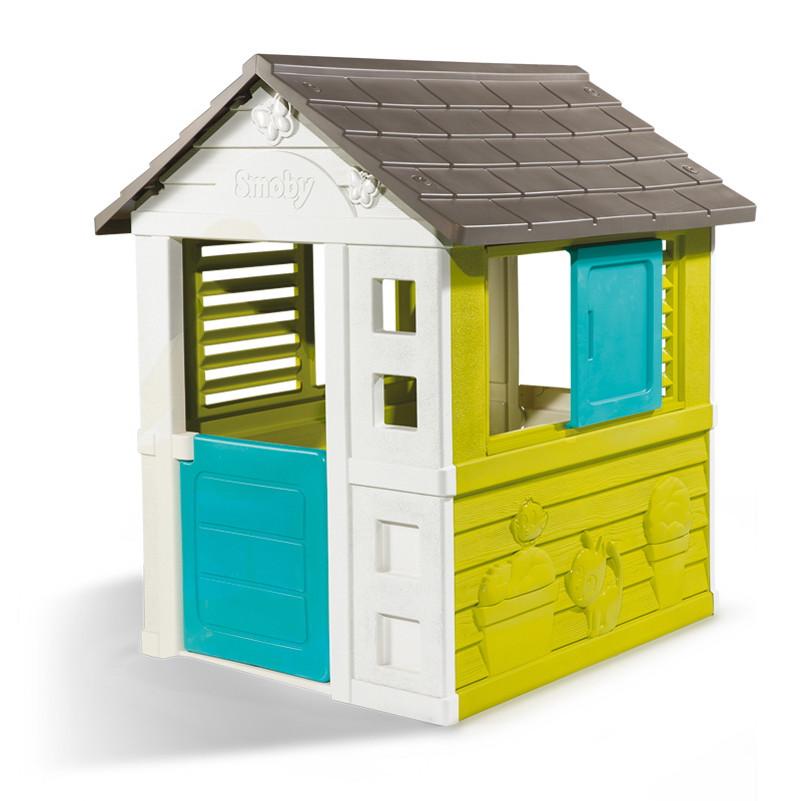 """Игровые площадки «Smoby» (310064) домик дачный """"Уикенд (Pretty)"""" с раздвижными ставнями"""