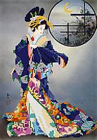 Набор для вышивки бисером Гейша, размер 20х29 см, арт. 1610