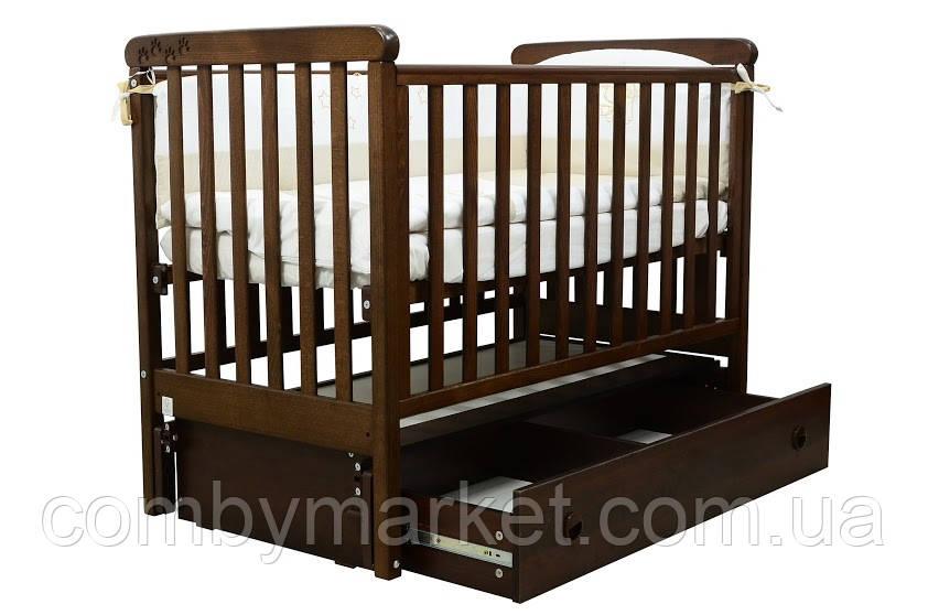 Кроватка Верес ЛД12 Соня маятник/ящик орех