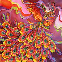 Набор для вышивки бисером POINT ART Жар-птица, размер 40х40 см, арт. 1262