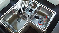 Кухонная угловая мойка CM SPA Ilaria 500х830х500 полированная
