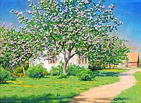 Набор для вышивки бисером POINT ART Яблони в цвету, размер 41х30 см, арт. 1206