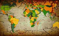 Набор для вышивки бисером POINT ART Карта мира, размер 40х25 см, арт. 1567