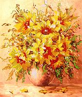 Набор для вышивки бисером Солнечный букет, размер 28х33 см, арт. 1423