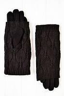 Женские зимние перчатки стрейч+ вязка