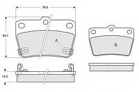 Тормозные колодки TOYOTA RAV-4 (A20) 05/2000-11/2005 дисковые задние, Q-TOP (Испания) QE0027E
