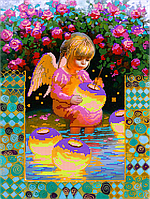 Набор для вышивки бисером POINT ART Девочка-ангел, размер 30х40 см, арт. 1341
