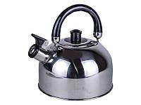 Чайник со свистком А-Плюс WK-1321, металл, 2,5л, двойное дно