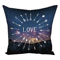 Подушка декоративная с принтом Любовь 50*50 см