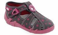 Тапочки (туфельки) для девочки Renbut малиновые звезды (19-27)