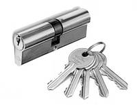 Цилиндр замочный Imperial ZN 60мм (30x30) ключ-ключ никель - сатин