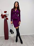 Костюм женский пиджак и юбка мини разные цвета Kdi259