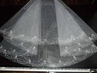 Фата свадебная вышитая бисером в наличии и под заказ