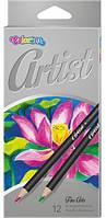 "Карандаши цветные ""Artist"" premium, 12 цветов, TM COLORINO, 65498"