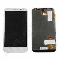 Дисплей (LCD) HTC X315 Sensation XL G21 с сенсором белый