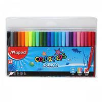 Фломастеры, 24 цвета, COLOR PEPS Ocean, TM MAPED, MP.845722