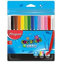 Фломастеры 12 цветов COLOR PEPS Ocean, TM MAPED, MP.845720