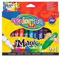 Фломастеры, магнитрые 10 цветов,ТМ COLORINO, 34630