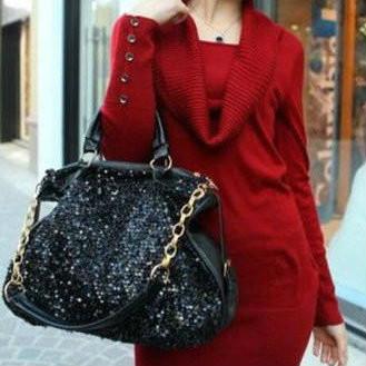 Женская сумка с блестками