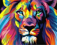 Алмазная вышивка Радужный лев KLN 30*40 см (арт. FS370)