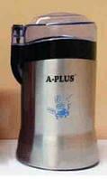 Роторная кофемолка А-Плюс CG-1586: 180 Вт, нож из нержавеющей стали, шнур прячется в корпус