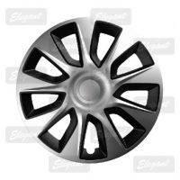 Колпаки колесные Stratos silver&black ( к-т 4шт.) R13,R14,R15,R16.