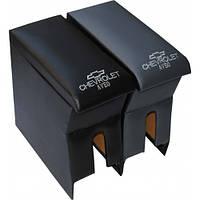 Подлокотник Chevrolet Aveо (Шевроле Авео) черный с вышивкой