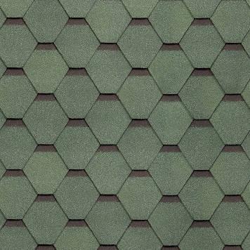 Битумная черепица Shinglas Ультра Самба Зеленый (Малахит), фото 2