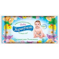 """Салфетки влажные """"Superfresh"""" 72шт с клапаном"""