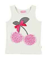 Майка для девочки LC Waikiki белого цвета с вишней на груди