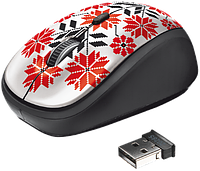 Мышь компьютерная Trust Yvi Wireless Mouse Ukrainian style - snow