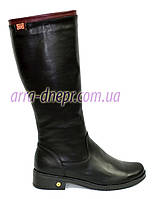Женские классические кожаные демисезонные сапоги