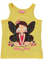 Майка для девочки LC Waikiki желтого цвета с феей на груди