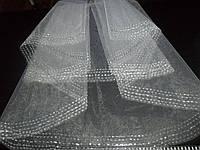 Свадебная фата вышитая бисером ручная работа