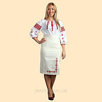 Традиционная украинская вышиванка в геометрическом орнаменте. Людмила, фото 1