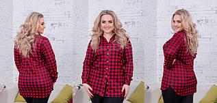 Женская рубашка в клетку (46-60) 8161.1