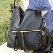 Стильная женская сумка с двумя молниями