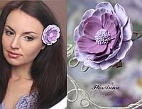 """Заколка цветок  из полимерной глины """"Сиреневая мечта"""", фото 1"""