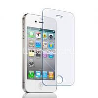 Защитное стекло на экран прозрачное для iPhone 4G/S, (в пакете без салфеток)