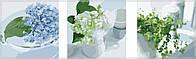 Раскраски для взрослых 50х150 см. Триптих Весенний натюрморт