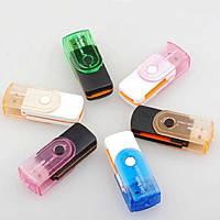 Картридер универсальный  USB 2.0 CR 09, White/Violet, Blister