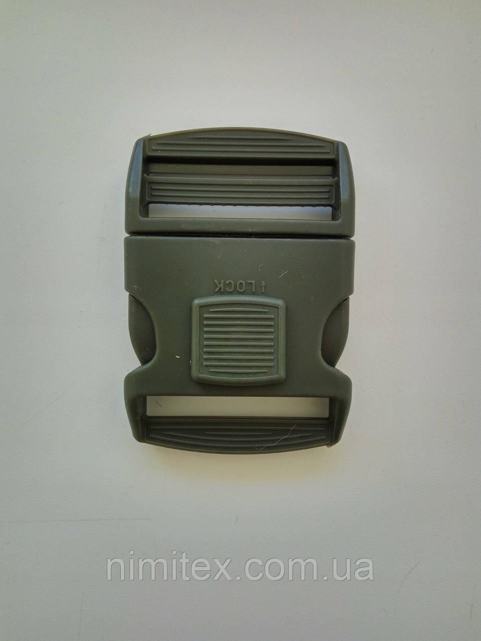 Фастекс с фиксатором 51 мм хаки