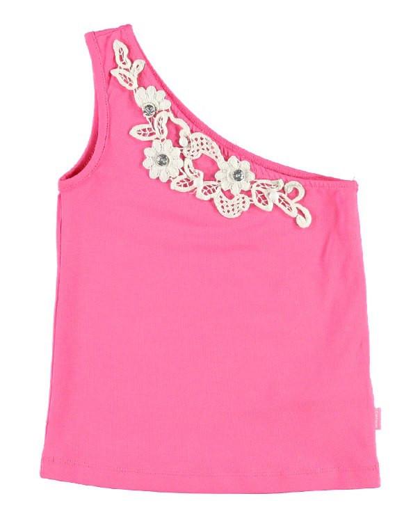 Майка для девочки LC Waikiki розового цвета на одно плече