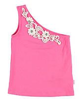 Майка для девочки LC Waikiki розового цвета на одно плече 6-7(рост 116-122)