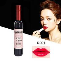 "Блеск-тинт для губ ""Бутылочка Вина"" RD01 Shiraz Red"